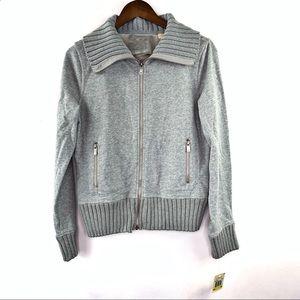 Michael Kors Medium Turtleneck Jacket Gray M New